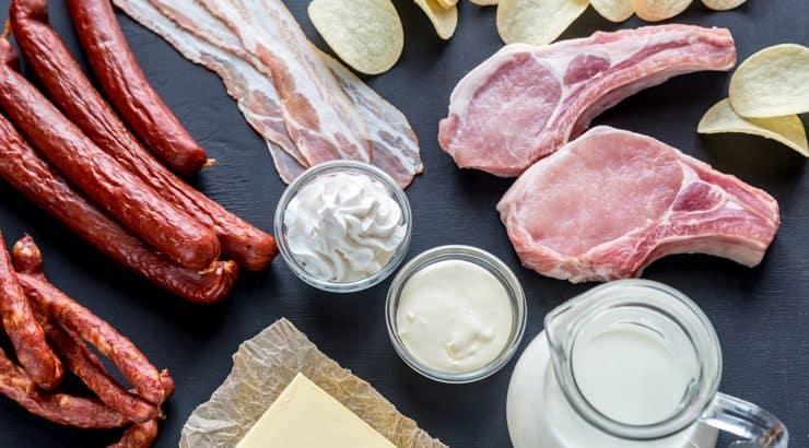 acidos grasos estearicos en alimentos
