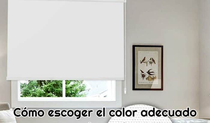 como escoger el color adecuado para estores